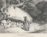 Dante rencontrant les non-baptisés, Chant IV