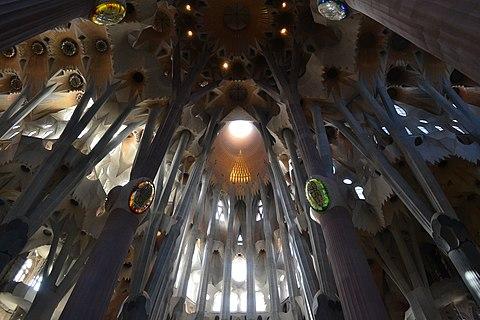 Inside Sagrada familia panoramio