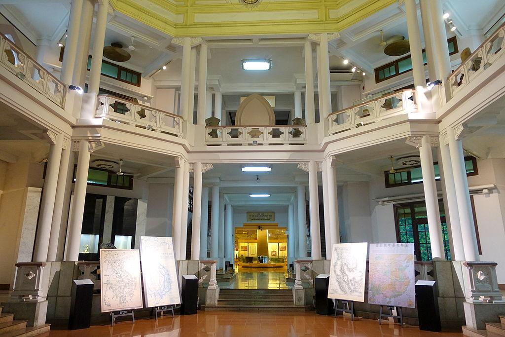 A l'intérieur du musée d'histoire vietnamienne à Hanoi.