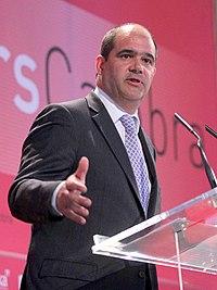 Intervenció del president de FemCAT, Carles Sumarroca, en els Dinars Cambra, 14 de maig de 2012 (cropped).jpg