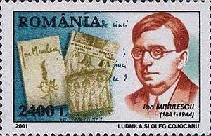 Ion Minulescu - Ion Minulescu on a 2001 Romanian stamp