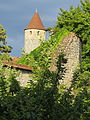 Iphofen, KT - Obere Gräbengasse - Stadtmauer, Turm.JPG