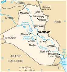 Description de l'image Iraq carte.png.