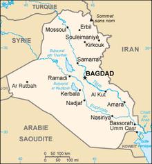 Descrição da imagem do mapa do Iraque.png.