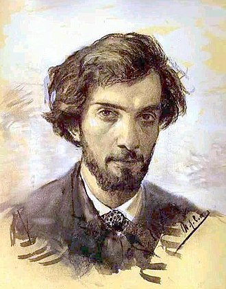 Isaac Levitan - Issac Levitan, Self portrait, 1880