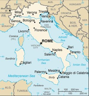 Map Of Italy Simple.List Of Cities In Italy Simple English Wikipedia The Free