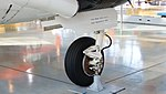 JASDF B-65(03-3094) left main landing gear left front view at Hamamatsu Air Base Publication Center November 24, 2014.jpg