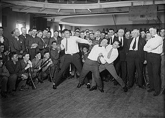Jack Dempsey - Dempsey mock punching Harry Houdini (held back by Benny Leonard)