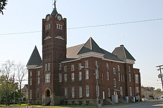 Newport, Arkansas - Former Jackson County Courthouse in Newport