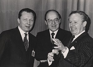 President of the European Commission - Jacques Delors (left) breathed new life into the European Commission Presidency after a period of 'eurosclerosis' under his predecessor, Gaston Thorn (right)