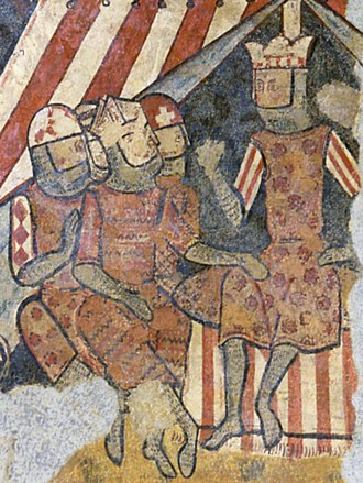 Balearic Islands - King James I of Aragon (furthest right) during his conquest of Mallorca in 1229.