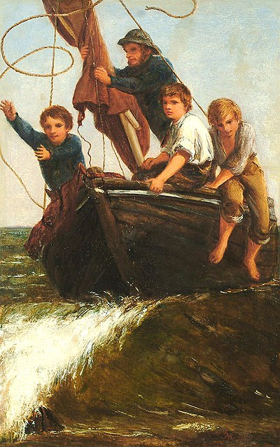 James Clarke Hook - Bringing the boat ashore