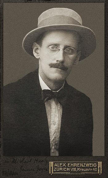 James Joyce, 1 photographic print, b&w, cartes...