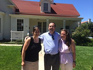 Jami, LiAnna, and Frank in front of our new office in the Presidio.