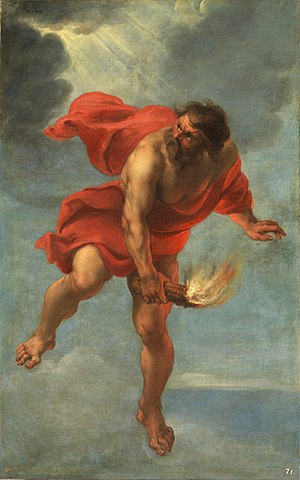 Pkharmat - Prometheus Carrying Fire by Jan Cossiers