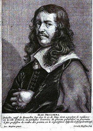 Joannes Meyssens - Joannes Meyssens, engraving by his son Cornelis after a self-portrait.