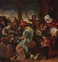 The Merry Family with Cats