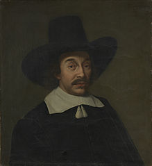 Jan de Hooghe (1608-82). Father-in-law of the painter Ludolf Bakhuysen