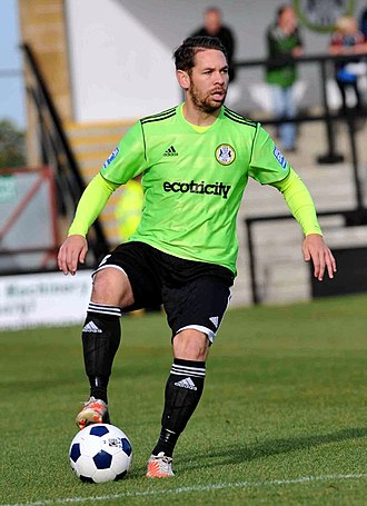 Jared Hodgkiss - Hodgkiss playing for Forest Green Rovers in 2013