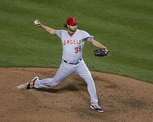 Jason Grilli - Grilli with the Los Angeles Angels of Anaheim