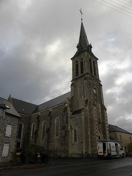 Église Notre-Dame-de-l'Assomption, Les Chapelles, commune de Javron-les-Chapelles (53).