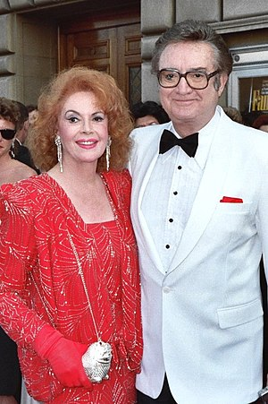 Jayne Meadows - With husband Steve Allen circa 1980s