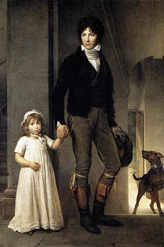 Jean-Baptiste Isabey - Isabey with his daughter, 1795, by François Gérard