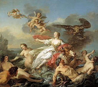 "Classical mythology - Le Rapt d'Europe (""The Abduction of Europa,"" 1750) by Jean-Baptiste Marie Pierre (Dallas Museum of Art)"