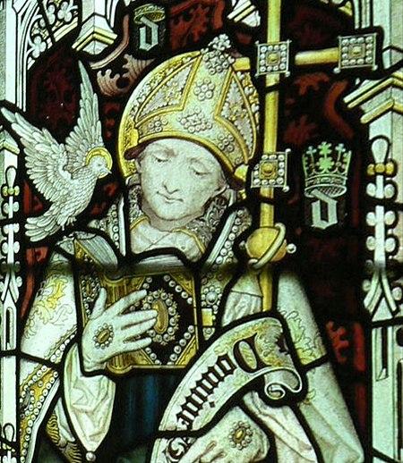 Dewi Sant (yng nghapel Coleg yr Iesu yn Rhydychen)