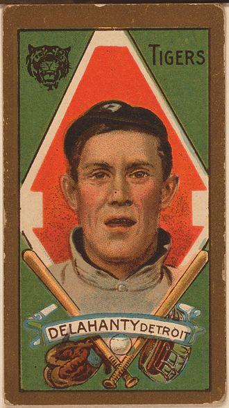 Jim Delahanty - Jim Delahanty baseball card