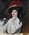 Joaquin Sorolla y Bastida - Retrato de una joven en un sombrero, cree que Raquel Meller.jpg