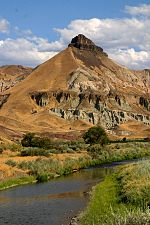 Sheep Rock at the John Day Fossil Beds National Monument