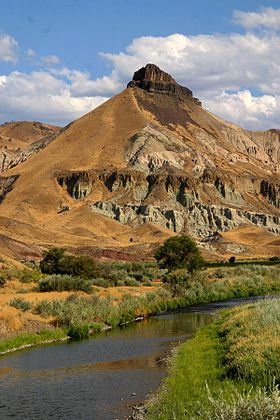 La John Day dans le John Day Fossil Beds National Monument