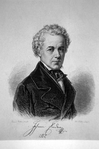 Johann Ender - Etching by Franz Xaver Stöber, 1852