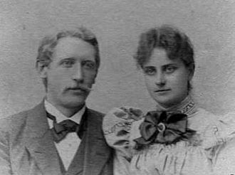 Michael Agerskov -  Johanne and Michael Agerskov - photo taken before they married in 1899