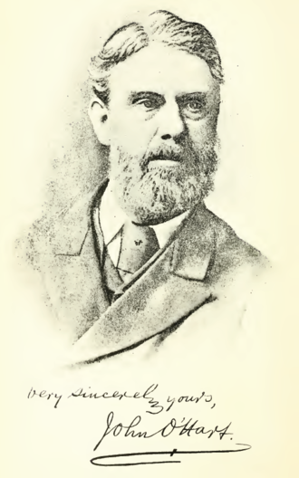 John O'Hart - A sketch of John O'Hart first published in Irish pedigrees; or, The origin and stem of the Irish nation (1892), by John O'Hart, - Volume: 1.