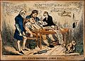 John Bull about to be bled by three doctors; satirizing Brit Wellcome V0011344.jpg