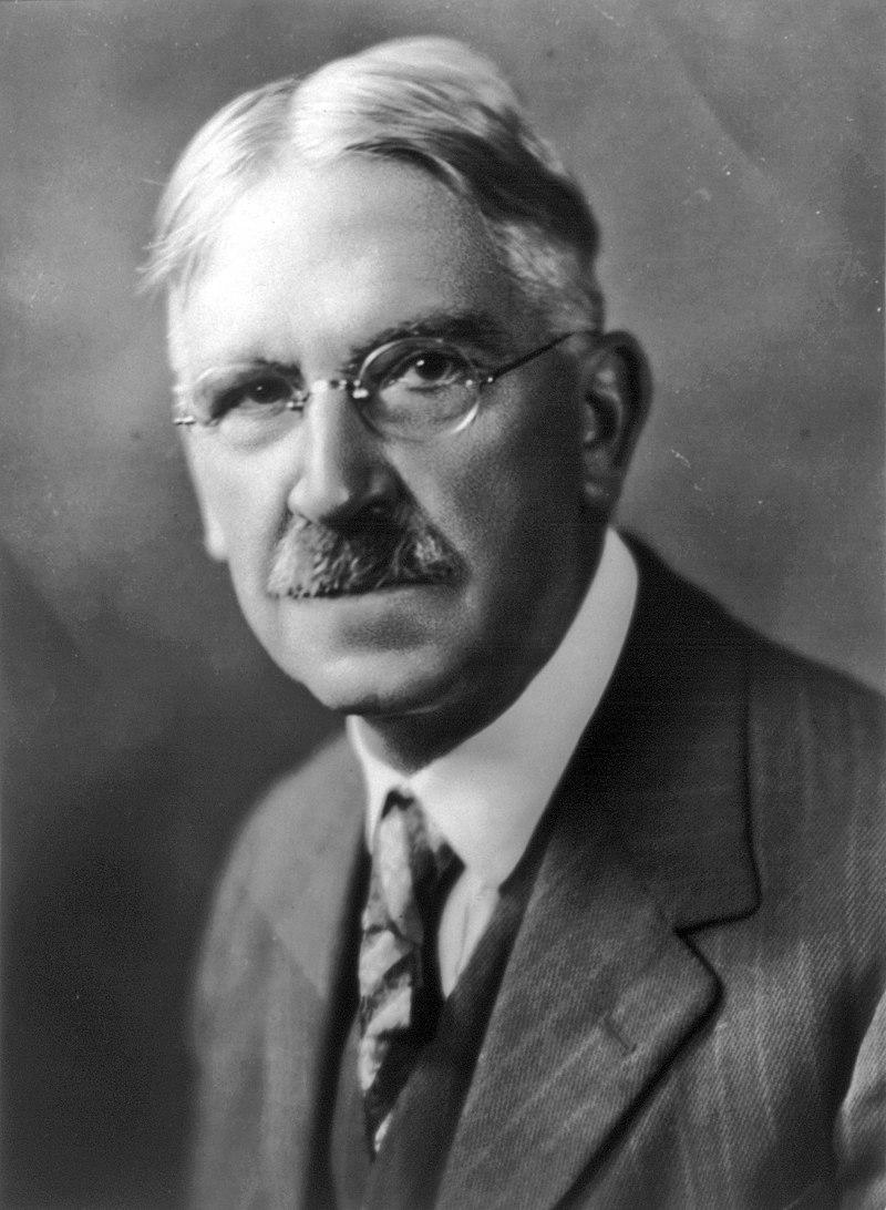 Bust portrait of John Dewey, facing slightly left