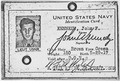 John F. Kennedy Navy Identification Card - NARA - 192760.tif