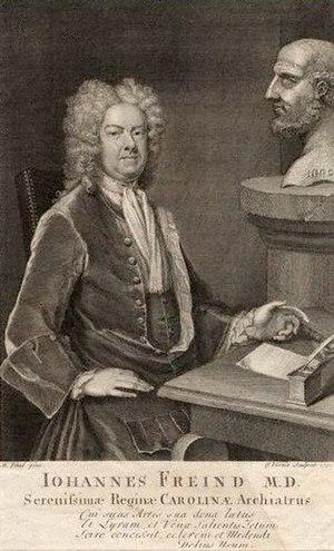 John Freind - John Freind, 1730 engraving by George Vertue, after Michael Dahl.