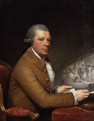 John Hall (artist) - Gilbert Stuart's portrait of Hall with his engraving of Penn's Treaty with the Indians