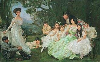 John Henry Frederick Bacon - The golden butterfly - The Harvey family