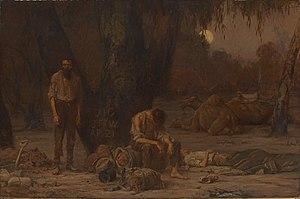 John Longstaff - Image: John Longstaff Arrival of Burke, Wills and King, 1861