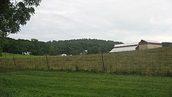The John Scott Farm, a historic farm in the township