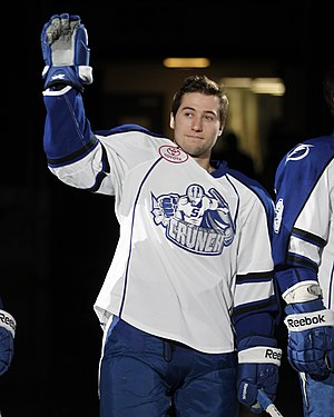 Tyler Johnson (ice hockey) - Johnson in 2013 with the Syracuse Crunch