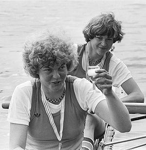 Karin Abma - Joke Dierdorp and Karin Abma (right) at the 1977 World Championships