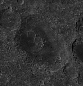 Joliot (crater) - Oblique Apollo 14 Hasselblad camera image