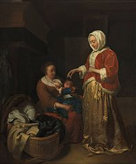 Interior with a Mother, a Nurse and an Infant