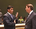 José Oliva makes a point to Bill Galvano.jpg