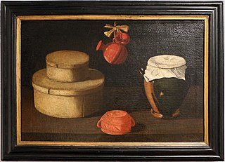 still life with boxes and crockery